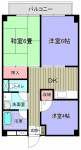 3DKタイプ。奇数部屋は反転タイプです。角部屋は横側にベランダ有。(間取)